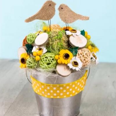Цветочное кашпо Птички